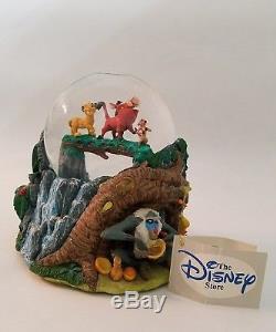 Disney The Lion King Hakuna Matata Simba Timon Pumbaa Snowglobe Music Box Rare