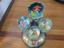 Disney The Little Mermaid Musical Snowglobe RARE Daughters of Triton, lights up