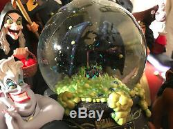 Disney Theme Park Villains Musical Lighted Snow Globe Works Great Excellent Cond
