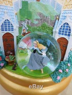 Disney Three Princesses Castle Music Snowglobe Aurora, Cinderella & Snow White