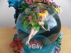 Disney Tinker Bell Animated Garden Musical Snowglobe