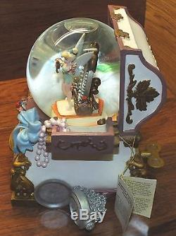 Disney Tinker-Bell The Hidden Place Jewelry Chest Wind Up Musical Snow Globe