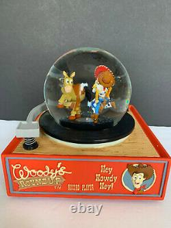 Disney Toy Story Round Up Record Player Snow Globe/music Box Htf