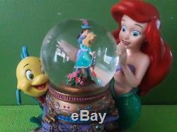 Disney Under The Sea Litte Mermaid Ariel Musical Swow Globe Water Snow Globe