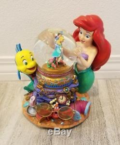 Disney Under The Sea Little Mermaid Ariel Musical Snowglobe Water Snow Globe NR