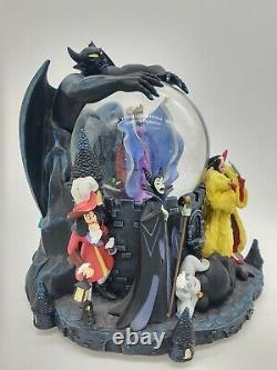 Disney Villains Grim Grinning Ghost Musical Snowglobe Music Plays Great