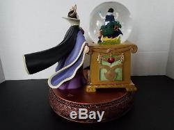 Disney Villains Maleficent with Snow White in Musical Snowglobe