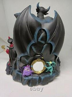 Disney Villains Musical Snow Globe Grim Grinning Ghost Maleficent Ursula Jafar