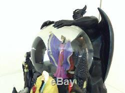 Disney Villains Musical Snowglobe Large Ursula Evil Queen Chernabog Maleficent 1