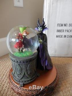 Disney Villains (RARE) Rotating Musical Snow Globe Statue Maleficent #96289