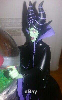 Disney Villains Series Sleeping Beauty Maleficent Musical Snowglobe Rare NIB