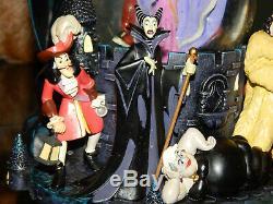 Disney Villains Snow Globe Chernab Evil Queen Maleficent Cruella Ursella Musical
