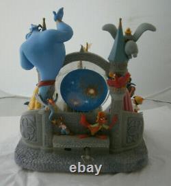 Disney Wishes Castle Snow Globe Dome Music Lights Genie Dumbo Tink Princess Huge