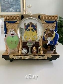 Disney's Beauty and the Beast Belle 2 Sided Musical StoryBook Snowglobe