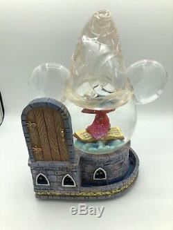 Disney's Fantasia The Sorcerer's Apprentice Musical Snow Globe RARE
