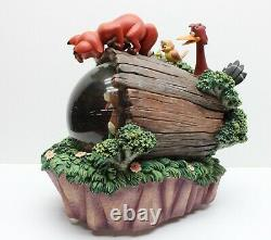 Disney's Fox and the Hound musical Snowglobe No Box but STILL WORKS! #96285