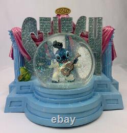 Disney's Lilo & STITCH AS ELVIS Aloha OE Musical Light Up Snow Globe LOOK VIDEO