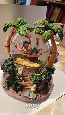 Disney's Lilo and Stitch Musical Snowglobe with lights and sound! Plays Aloha