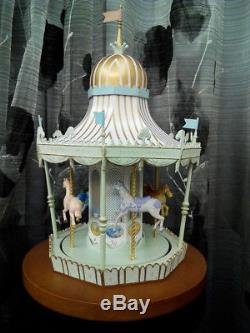 Disney's Mary Poppins Jolly Holiday Music Box Carousel By Kevin Kidney LE
