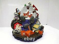 Disney's NIGHTMARE BEFORE CHRISTMAS SNOWGLOBE WHAT'S THIS Music box, Lights up