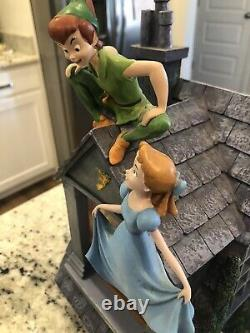 Disney's PETER PAN You Can Fly! Music snow globe Darling House Window RARE
