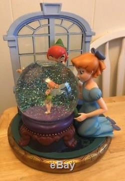 Disney S Peter Pan Wendy And Tinkerbell Snow Globe Music Box You Can Flytune