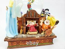 Disney's Pinocchio & Snow White Share a Dream Come True Musical Snowglobe withBox