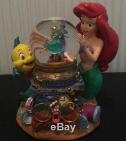 Disney's The Little Mermaid Ariel Under The Sea Musical Snow Globe-RARE & MINT