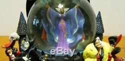 Disney's Villians Snow Globe and Music Box Lights Up 9 High RARE