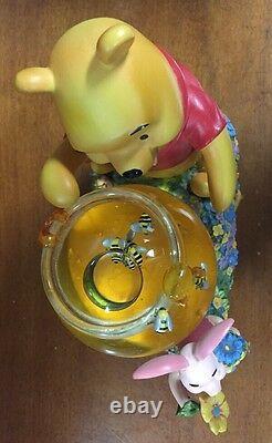 Disney's Winnie The Pooh & Piglet Honey Pot Musical Snowglobe