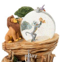 Disney store Japan 25th Anniversary LION KING Snow Globe Dome Music box