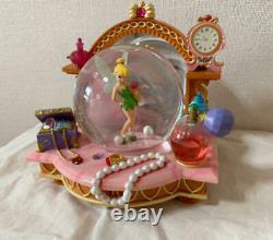 Disney store Japan Tinker Bell snow globe glass shoes dome figure with music box