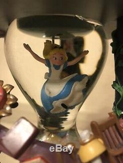 Disneys 25th Anniv. Alice in Wonderland Snow Globe Dome Music Hourglass RARE