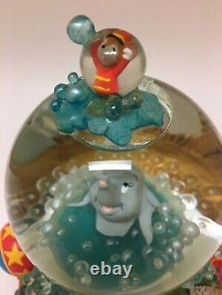Disneys Dumbo Takes A Bubble Bath Musical Snow Globe With Working Bubbles