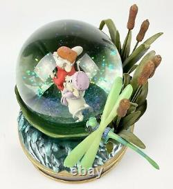 Disneys The Rescuers 30th Anniversary Musical Snow Globe RETIRED Authentic