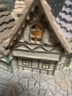 Huge Disney Beauty And The Beast Castle Village Snow-Globe Lights/Music Vintage