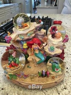 LITTLE MERMAID Snow Globe Musical UNDER THE SEA Ariel & friends DISNEY STORE