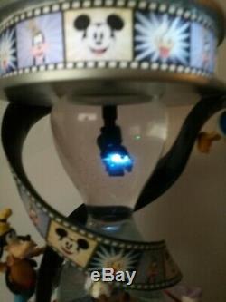 Light Up Disney Mickey & His Friends Make A Movie Musical Hourglass Snowglobe