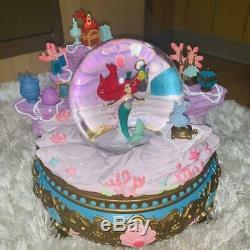 Little Mermaid Ariel Snow globe Music Box Figure Doll Disney store