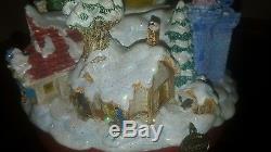 Mickey Mouse & Friends Christmas Musical Double Snowglobe! Disney, Very Rare, Nib