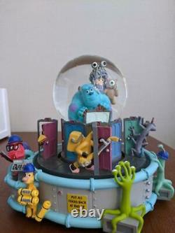 Monsters Inc. Snow dome toy ornament disney collaboration Music box used