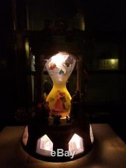 NIB Disney Sleeping Beauty Musical Snowglobe Hourglass Aurora Maleficent Fairies