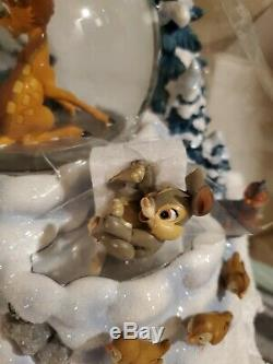 NIB Disney Winter Bambi Musical Snow Globe