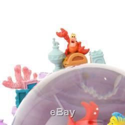 New D23 Expo Japan 2018 Little Mermaid Ariel Music Box Snow Globe Disney Store