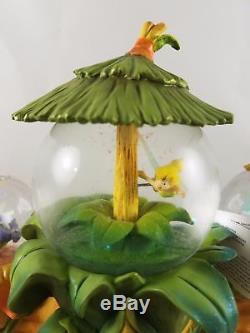 New Disney Peter Pan Tinker Bell's Fairy Friends 2008 Musical Snowglobe Large