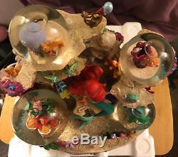 New! Disney Store Little Mermaid Under the Sea Musical Snow Globe Snowglobe