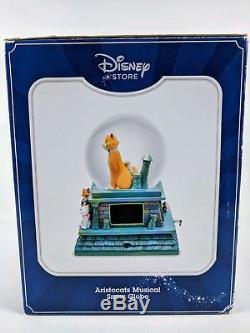 New in Box Disney The Aristocats Musical Snow Globe Lights Up