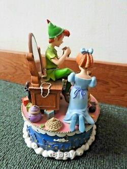 Peter Pan Shadow Music Box, Vintage Disney Peter Pan Wendy Tinkerbell
