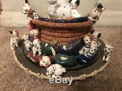 RARE 1989 Disney Store Catalog 101 Dalmatians Musical Movement Snow Globe