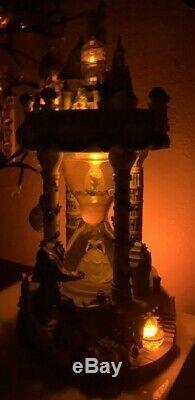 RARE DISNEY Princess Beauty Beast Hourglass Snow Globe Musical/Lights Beautiful